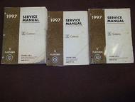 1997 GM Cadillac CATERA Preliminary Service Shop Repair Workshop Manual SET OEM
