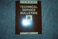 1992 Dodge Chrysler Technical Service Bulletins Manual