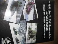 1992 Arctic Cat Wildcat EFI Wildcat EFI Mountain Cat Service Repair Shop Manual