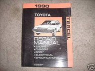 1990 Toyota Tercel Service Shop Repair Manual FACTORY OEM 1990 BOOK