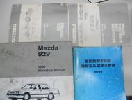1990 MAZDA 929 Service Repair Shop Manual SET how to FIX OEM 90