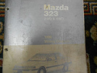 1990 Mazda 323 2wd 2WD 4wd WIRING Diagram Electrical Service Repair Shop Manual
