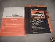 1989 TOYOTA TERCEL Service Shop Repair Manual Set OEM W WIRING DIAGRAM EWD