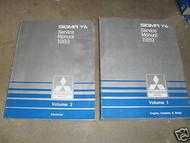1989 MITSUBISHI Sigma V6 Service Shop Manual FACTORY OEM BOOK 89 SET 2VOL WORN