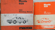 1989 Mazda 929 Service Shop Repair Manual Set FACTORY OEM RARE How to FIX 89