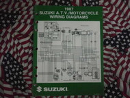 1976 Suzuki 120 B100P Service Manual Engine Selection SPINE DAMAGE OEM 76