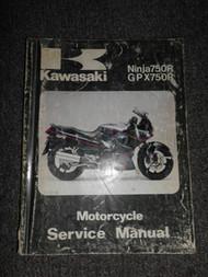 1987 Kawasaki Ninja750R GPX750R Service Shop Repair Manual OEM Motorcycle