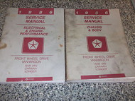 1986 DODGE CARAVAN PLYMOUTH VOYGER VAN FWD Service Shop Repair Manual SET OEM