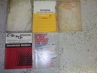 1984 Toyota Corolla FF Service Repair Shop Manual Set FACTORY OEM