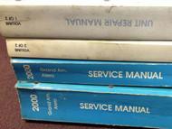 2000 Pontiac Grand AM Oldsmobile Alero Service Shop Repair Manual SET W UNIT BKS