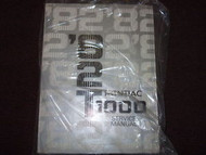 1982 Pontiac T1000 Service Shop Repair Manual OEM 82