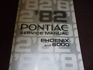 1982 Pontiac j2000 Service Shop Repair Manual OEM 82