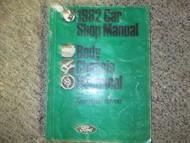 1982 Ford Escort Service Shop Repair Manual FACTORY OEM