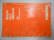 1981 Mazda GLC Wagon Service Electrical Wiring Manual Factory OEM RARE BOOK