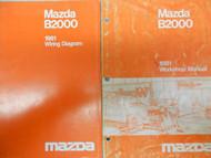 1981 Mazda B2000 Truck Service Repair Shop Manual SET FACTORY OEM BOOKS 81