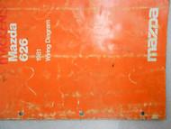 1981 Mazda 626 Service Electrical Wiring Manual Factory OEM RARE BOOK