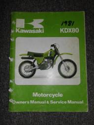 1981 Kawasaki KDX80 Service Repair Shop Owners Manual OEM FACTORY WATER DAMAGED