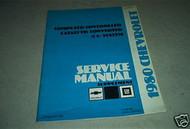 1980 Chevrolet Chevy Shop Service Manual Supplement