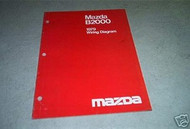 1979 Mazda B2000 Wiring Diagram Service Repair Manual FACTORY OEM BOOk RARE