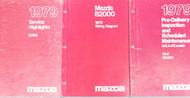 1979 Mazda B-2000 Truck Service Repair Shop Manual SET OEM FACTORY BOOKS 79