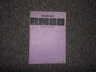 1976 Suzuki RM80 Owners Manual Factory