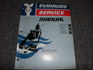 1975 Evinrude Service Shop Manual Electric EB12 EB14 ET12 ET14 OEM WATER DAMAGED