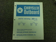1973 Chrysler Outboard 35 HP Parts Catalog Manual Tille