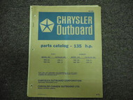 1973 Chrysler Outboard 135 HP Parts Catalog