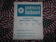 1973 Chrysler Outboard 10 HP Parts Catalog Autolectric