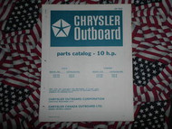 1973 Chrysler Outboard 10 HP Parts Catalog 102 103 HA B