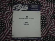 1972 Sea King Wards 20 HP Part Catalog 27420