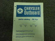 1972 Chrysler Outboard 30 HP Parts Catalog Electric Sta