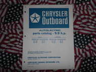 1971 Chrysler Outboard 9.9 HP Parts Catalog Autolectric
