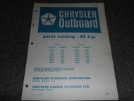 1970 Chrysler Outboard 45 HP Part Catalog