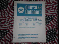 1970 Chrysler Outboard 12.9 HP Parts Catalog 124 125 HA