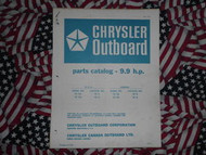 1969 Chrysler Outboard 9.9 HP Parts Catalog