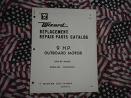 1968 Wizard Outboard 9 HP Part Catalog COC6509A86