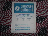 1968 Chrysler Outboard 9.9 HP Parts Catalog Autolectric