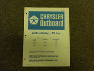 1968 Chrysler Outboard 75 HP Parts Catalog