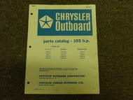 1967 Chrysler Outboard 105 HP Parts Catalog