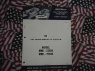 1966 Sea King Wards 35 HP Part Catalog 27935 27936