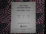 1965 West Bend Chrysler Outboard 12 HP Parts Catalog