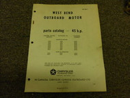 1965 Chrysler Outboard 45 HP Parts Catalog