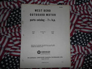 1965 Chrysler Outboard 7.5 7 1/2 HP Parts Catalog
