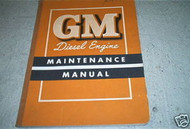 1953 1954 1955 GMC Diesel Engine Truck Service Shop Repair Manual OEM NICE COND