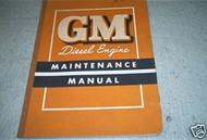 1953 1954 1955 GMC Diesel Engine Truck Service Shop Repair Manual OEM NICE COND