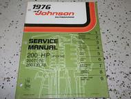 1976 Johnson Outboards Service Manual 200 HP 200TL76 200TXL76 OEM Boat