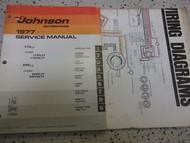 1977 Johnson Outboards Service Manual & Electrical Diagram Set 175 200 OEM Boat