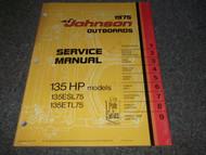 1975 Johnson Outboards Service Manual Electric Models E2T E4T E2B E4B OEM Boat