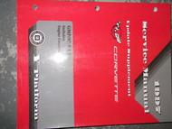 1997 Chevrolet Chevy Corvette Service Repair Shop Manual ENGINE OEM SUPPLEMENT